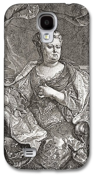 Charlotte Drawings Galaxy S4 Cases - Elisabeth Charlotte Princess Palatine Galaxy S4 Case by Ken Welsh