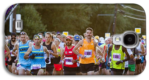 Footrace Galaxy S4 Cases - Elite Start at the Pikes Peak Marathon and Ascent Galaxy S4 Case by Steve Krull