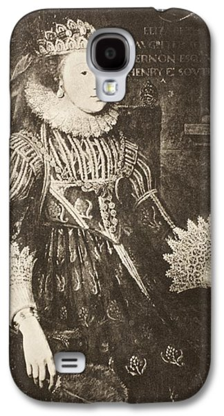 First Lady Drawings Galaxy S4 Cases - Elizabeth Wriothesley  N Galaxy S4 Case by Vintage Design Pics