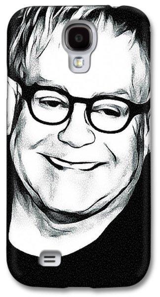Elton John Galaxy S4 Cases - Elton John Black and White Galaxy S4 Case by Yury Malkov