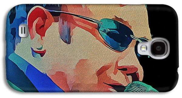 Elton John Galaxy S4 Cases - Elton John Blue Eyes Portrait 2 Galaxy S4 Case by Yury Malkov