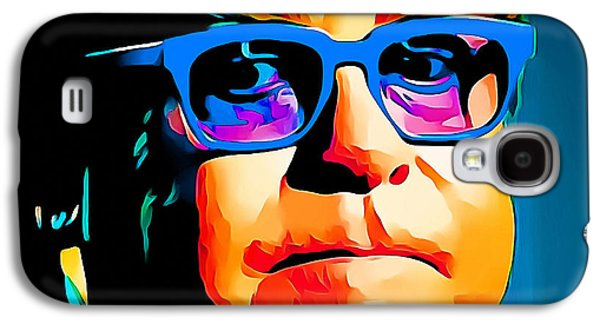 Elton John Galaxy S4 Cases - Elton John Blue Eyes Portrait Galaxy S4 Case by Yury Malkov