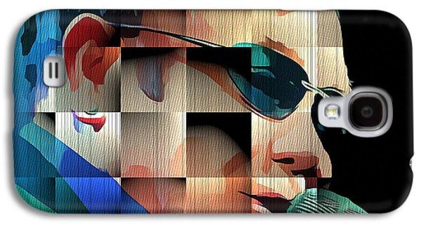 Elton John Galaxy S4 Cases - Elton John in Cubes 1 Galaxy S4 Case by Yury Malkov