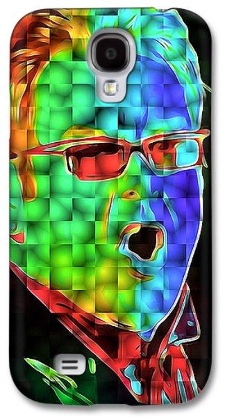 Elton John Galaxy S4 Cases - Elton John in Cubes 2 Galaxy S4 Case by Yury Malkov