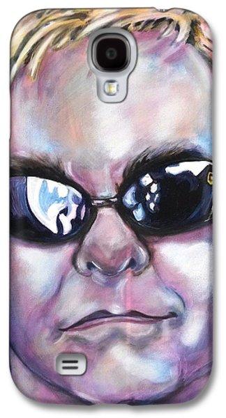 Elton John Paintings Galaxy S4 Cases - Elton John Galaxy S4 Case by Misty Smith