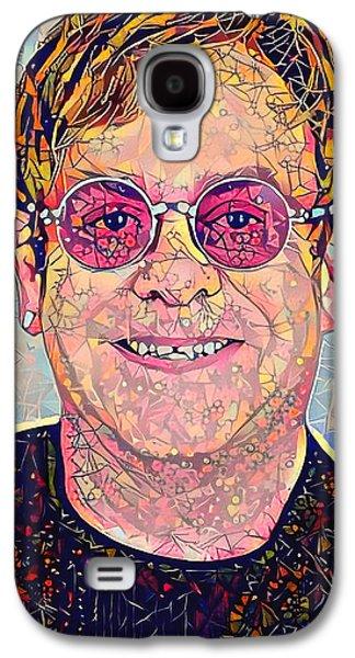 Elton John Triangles Portrait Galaxy S4 Case by Yury Malkov