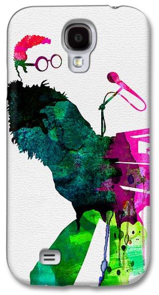 Elton John Galaxy S4 Cases - Elton Watercolor Galaxy S4 Case by Naxart Studio