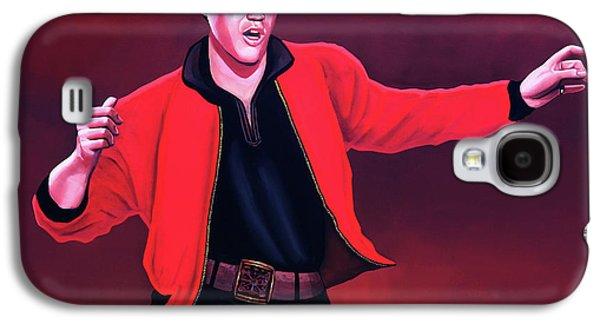 Elvis Presley 4 Painting Galaxy S4 Case by Paul Meijering