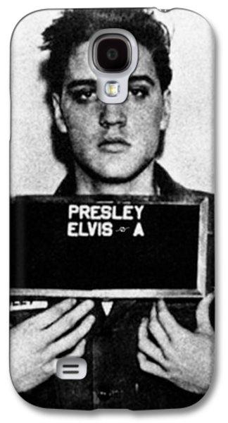 Elvis Presley Mug Shot Vertical 1 Galaxy S4 Case by Tony Rubino