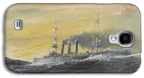 Wwi Paintings Galaxy S4 Cases - Emden rides the waves Galaxy S4 Case by Vincent Alexander Booth
