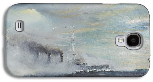 Wwi Paintings Galaxy S4 Cases - Emden The Swan of the East Galaxy S4 Case by Vincent Alexander Booth