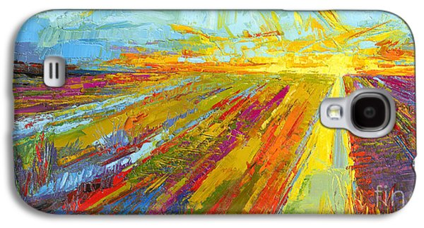 Emerald Dreams Modern Impressionist Oil Painting  Galaxy S4 Case by Patricia Awapara