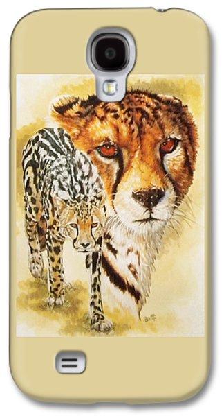Cheetah Drawings Galaxy S4 Cases - Eminence Galaxy S4 Case by Barbara Keith