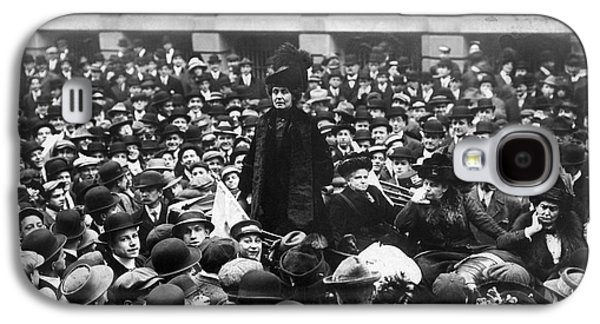 Protesters Galaxy S4 Cases - Emmeline Pankhurst Galaxy S4 Case by Granger