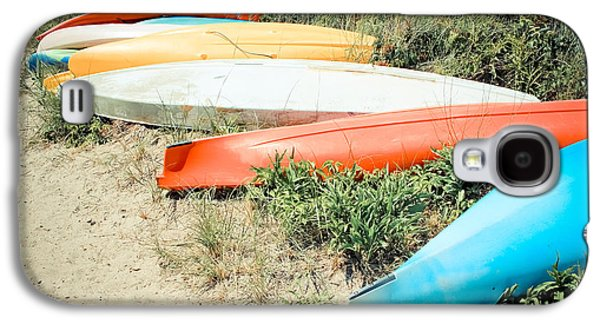 Landscapes Photographs Galaxy S4 Cases - Emotion - Kayaks Galaxy S4 Case by Colleen Kammerer