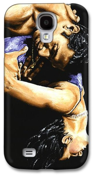 Male Paintings Galaxy S4 Cases - Emotional Tango Galaxy S4 Case by Richard Young