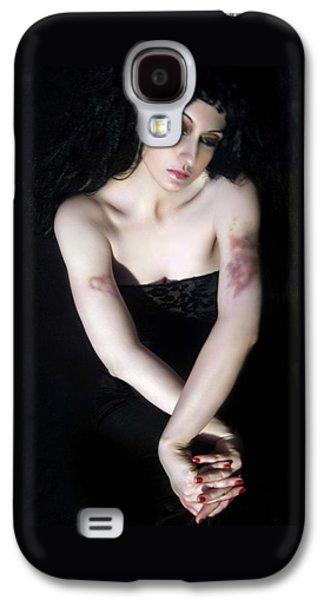 Survivor Art Galaxy S4 Cases - Emotionally Bruised - Self Portrait Galaxy S4 Case by Jaeda DeWalt