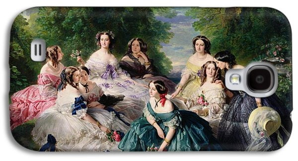 Empress Eugenie Surrounded By Her Ladies In Waiting Galaxy S4 Case by Franz Xaver Winterhalter