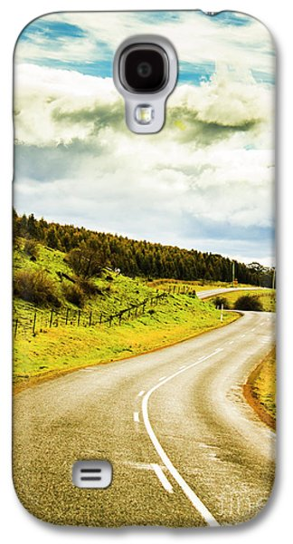 Empty Asphalt Road In Countryside Galaxy S4 Case by Jorgo Photography - Wall Art Gallery