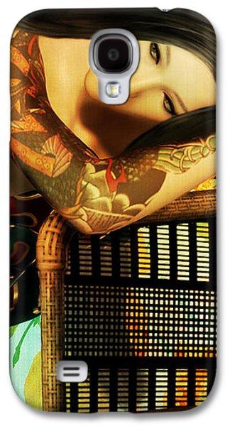 Tattoo Digital Galaxy S4 Cases - Empty Chair  Galaxy S4 Case by Shanina Conway