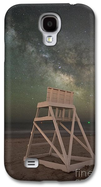Light Galaxy S4 Cases - Empty Life Guard Stand At Night Galaxy S4 Case by Michael Ver Sprill
