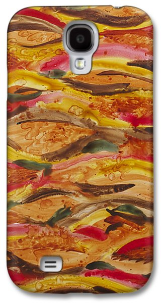 Abstract Movement Galaxy S4 Cases - En Afrique Galaxy S4 Case by Julie Myers