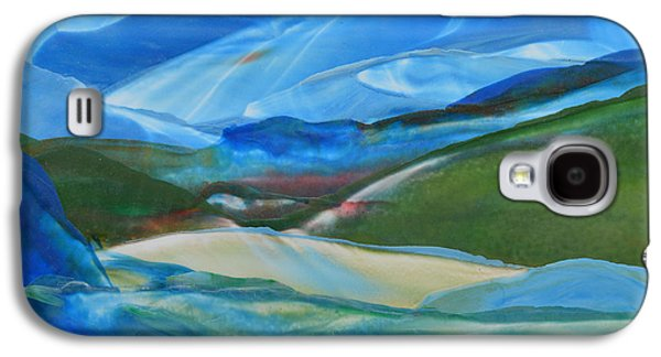 Abstract Landscape Galaxy S4 Cases - Encaustic Landscape Galaxy S4 Case by Maureen Thulin