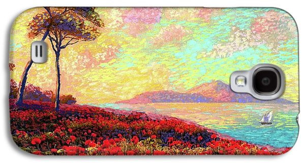 Enchanted By Poppies Galaxy S4 Case by Jane Small