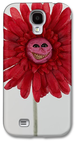 Floral Sculptures Galaxy S4 Cases - Enchanted Flower smiley Galaxy S4 Case by Michael Palmer