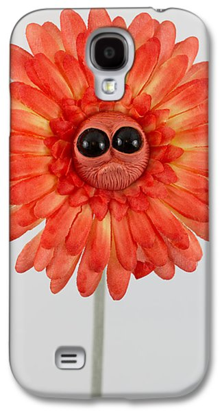 Floral Sculptures Galaxy S4 Cases - Enchanted orange worried flower Galaxy S4 Case by Voodoo Delicious