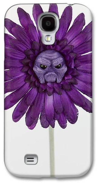 Floral Sculptures Galaxy S4 Cases - Enchanted purple flower grumpy Galaxy S4 Case by Voodoo Delicious