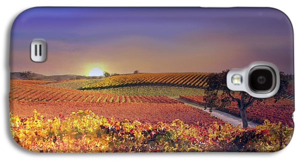 Vineyard Art Galaxy S4 Cases - Enchanted Vineyard Galaxy S4 Case by Stephanie Laird