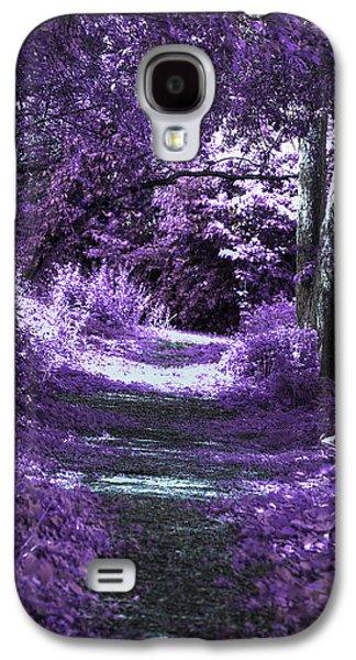 Mystical Landscape Mixed Media Galaxy S4 Cases - Enchanted Way Galaxy S4 Case by Lorelei Bleil
