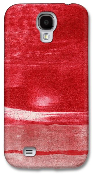 Red Abstract Mixed Media Galaxy S4 Cases - Energy- Abstract Art by Linda Woods Galaxy S4 Case by Linda Woods