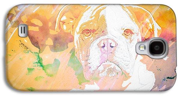 Boxer Galaxy S4 Cases - English Bulldog WC Galaxy S4 Case by Joye Ardyn Durham