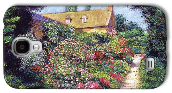 Country Cottage Galaxy S4 Cases - English Garden Stroll Galaxy S4 Case by David Lloyd Glover