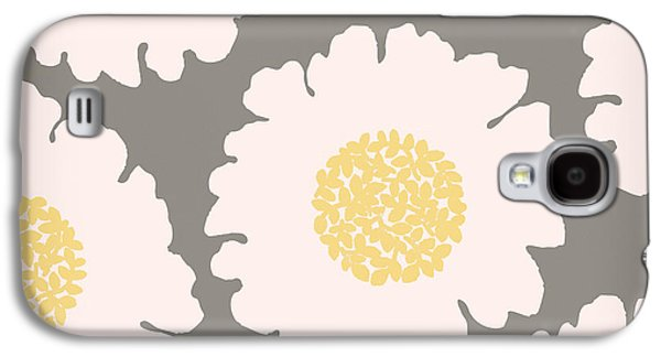 English Garden White Flower Pattern Galaxy S4 Case by Mindy Sommers