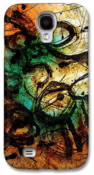 Colorful Abstract Digital Galaxy S4 Cases - Enigma  Galaxy S4 Case by Gary Bodnar