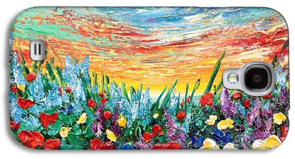 Sunset Abstract Galaxy S4 Cases - Enjoy It Galaxy S4 Case by Teresa Wegrzyn