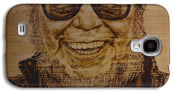 Celebrities Pyrography Galaxy S4 Cases - Enlightened Faun Galaxy S4 Case by Sergey Zernov