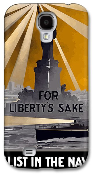 Enlist In The Navy - For Liberty's Sake Galaxy S4 Case by War Is Hell Store