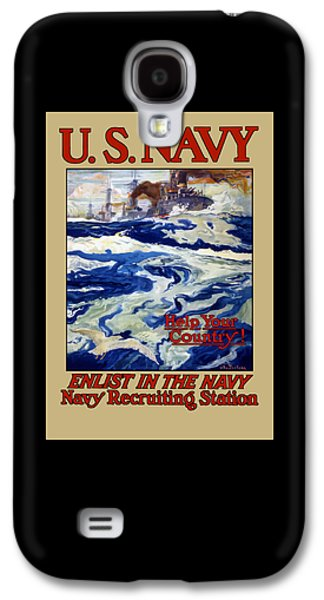 Vet Galaxy S4 Cases - Enlist In The Navy - For Libertys Sake Galaxy S4 Case by War Is Hell Store