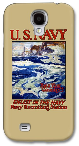 Historic Ship Galaxy S4 Cases - Enlist In The Navy Galaxy S4 Case by War Is Hell Store