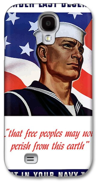 Enlist In Your Navy Today - Ww2 Galaxy S4 Case by War Is Hell Store