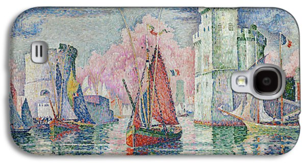 Entrance To The Harbour Of La Rochelle Galaxy S4 Case by Paul Signac