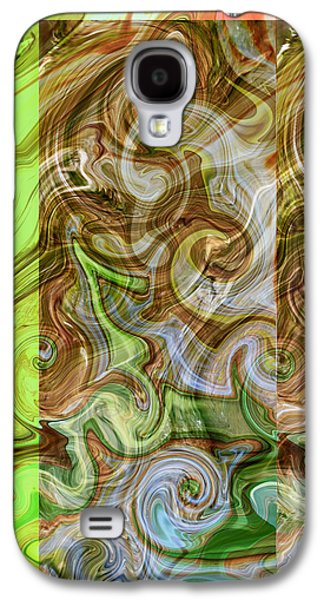 Abstract Digital Mixed Media Galaxy S4 Cases - Entwined Galaxy S4 Case by Aurora Art