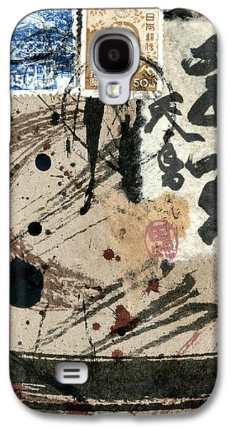 Envelope Collage With Japanese Postage Stamps Galaxy S4 Case by Carol Leigh