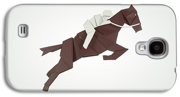 Sports Sculptures Galaxy S4 Cases - Equestrian Jumping Galaxy S4 Case by Richard Seanor