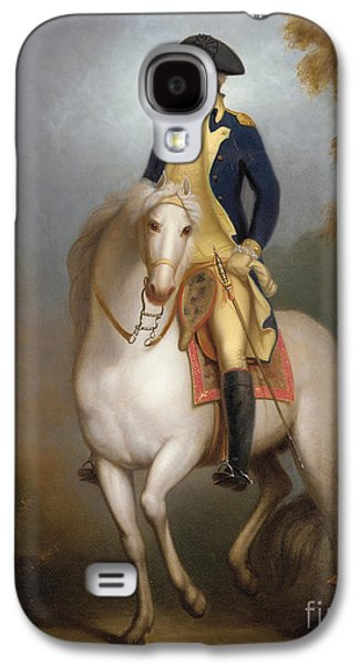 Politician Paintings Galaxy S4 Cases - Equestrian portrait of George Washington Galaxy S4 Case by Rembrandt Peale