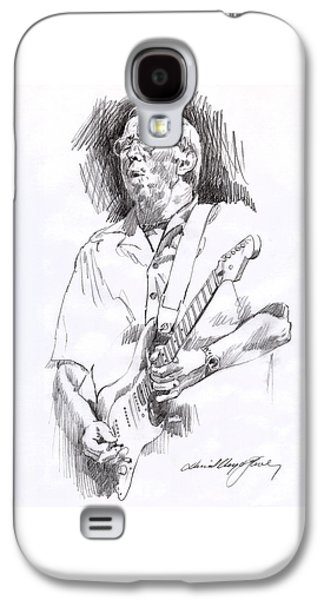 Icons Drawings Galaxy S4 Cases - Eric Clapton Blue Galaxy S4 Case by David Lloyd Glover